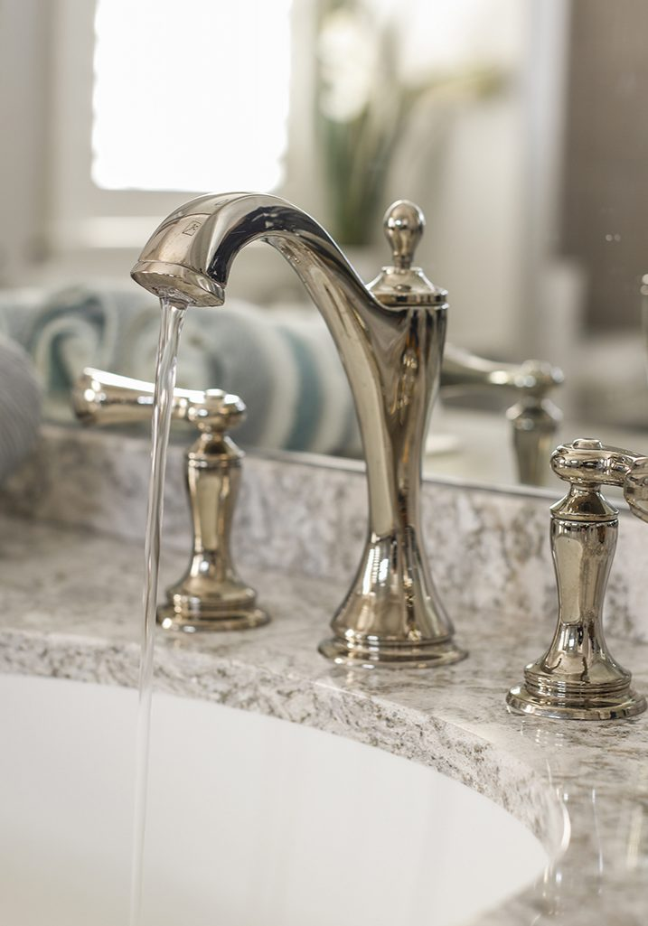 Polished Nickel Bathroom Faucet-Cambria Quartz 2